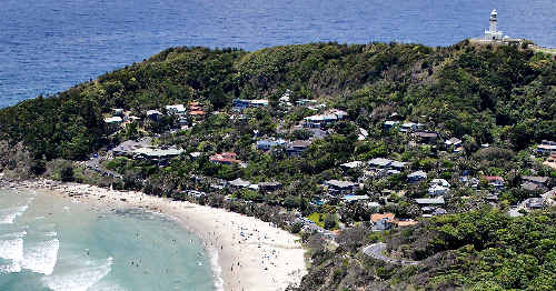 Tourism suffers: Wategos Beach at Byron Bay, a popular holiday destination for domestic and overseas tourists, who are altering their travel plans due to the strength of the Australian dollar.