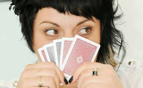 Paula 'Poker Face' Lavinia is excited about the poker craze in Gladstone.