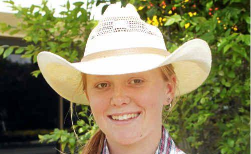 Rodeo Princess entrant Rachel Jones is working hard to raise funds.