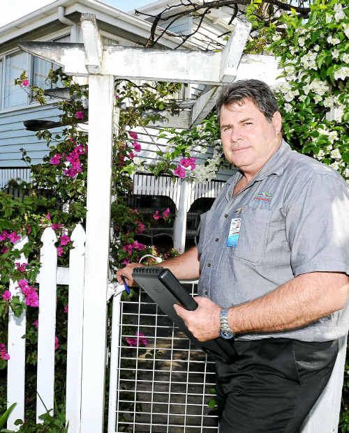 Local laws officer Brett Heidke on the prowl for unregistered dogs.