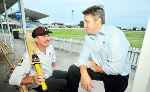 Norths Cricket Club captain Michael Ryan and player Rick Rochford are facing a tough battle against Brothers this weekend.