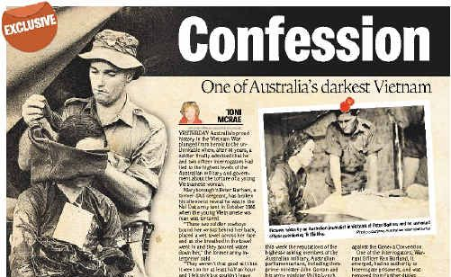 The exclusive Vietnam War water torture report as it ran in the Fraser Coast Chronicle.