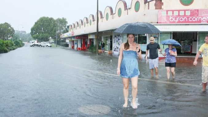 Expect this to happen again. Flooding in the Byron Bay CBD earlier this year.