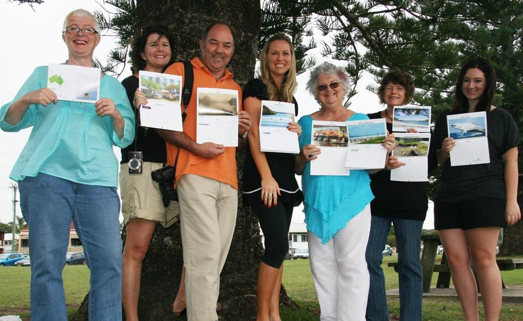 Calendar contributors, from left, Patricia Konitzky, Michelle Begg, Paul Begg, Lisa Moffat, Helen Armstrong, Marion Liddle and Brianna Howe.