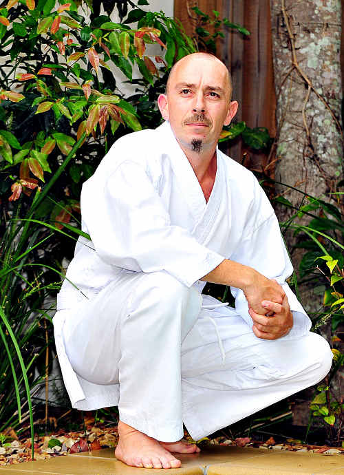 Reformed Noosaville smoker Adrian Redwood took up karate again after successfully giving up cigarettes.