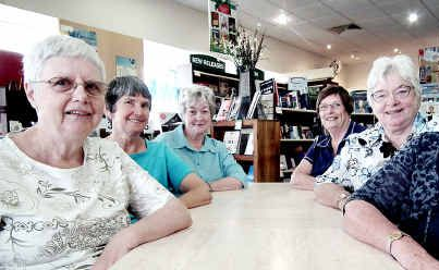 Hervey Bay Toastmasters Lorna Gale (left), Gail Stewart, Val Kelly, Alison Taylor, Dot King and Sue Downey are looking for some male input into the group.