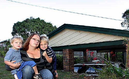 Michelle Byers lived a mother's worst nightmare after her two boys Ashtyn, 6, and Kaleb, 3, were climbing on the roof and somebody witnessed Ashtyn swinging from the power line that goes over the top of the carport.