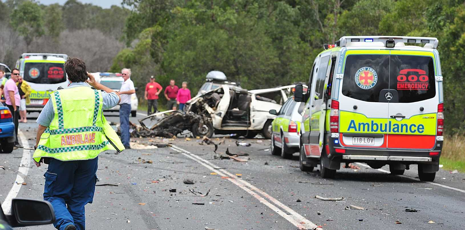One man is dead after a horror crash on the Bruce Highway.
