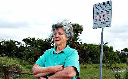 Ballina Environment Society president, Lyn Walker, says more must be done to stop illegal trail bike riding in ecologically sensitive areas, such as the heathland near Lake Ainsworth at Lennox Head. Council agrees, but admits it's a difficult problem to police.