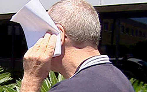 Toowoomba Catholic primary school teacher Gerard Vincent Byrnes leaves the courthouse after a previous appearance.