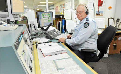 Shift supervisor Sergeant Steve Schultz manages the work of nine police stations within the Bundaberg district.