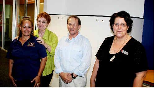 Attending the Volunteer Forum at Shakespeare St Lifeline were, Chantelle Malayta, Carmel Daveson, speaker Perry Hembury and Sandra Ruddock.