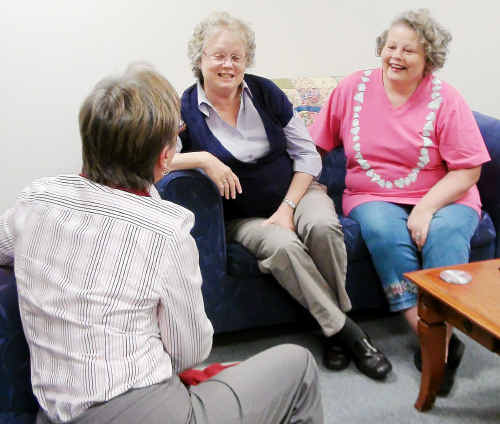 Women diagnosed with cancer get help at Choices information workshops.