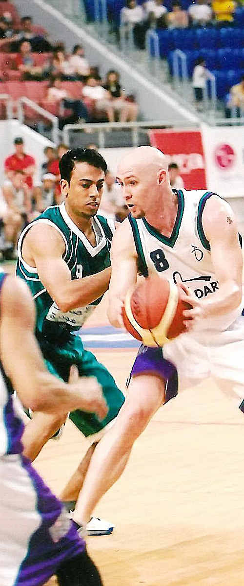 New Bundaberg Radiology Bulls star signing Shane Davis in action for his previous club Northside Wizards.