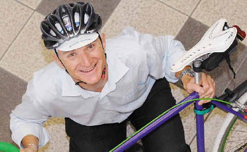 Hamish Jeffrey is a keen cyclist, who rides to and from work each day.