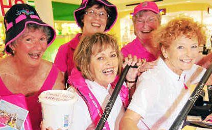Bundy Pink Bears girls Rhonda Stafford, Sheryl English, Sheila Ryan, Melody Watson and Elaine Eveille are raising funds for breast cancer awareness.