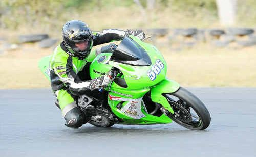 Luke Burgess rides his 250 Ninja to victory in the Queensland titles at Warwick.
