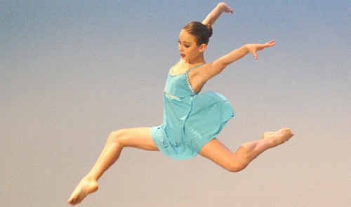 Hannah Doolan performs in the Contemporary Ballet/ Free Movement Solo 11 years, during the 40th Gladstone City Eisteddfod.