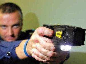 Police dog to the rescue as tasers fail to stop knifeman