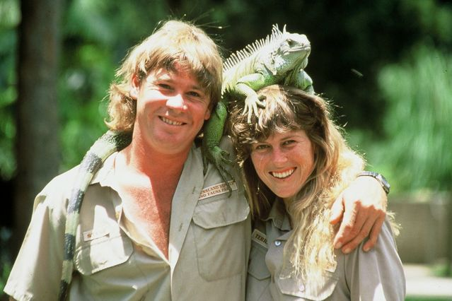 Steve Irwin and his wife Terri.