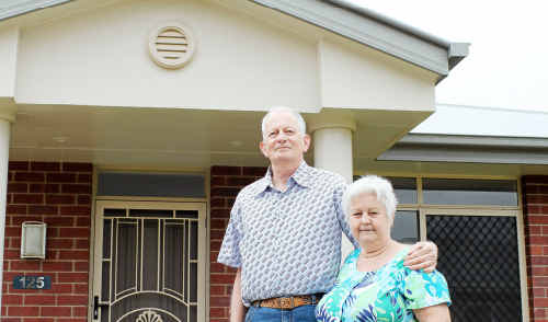 Brian and Jill Allan of Lismore are looking forward to moving into their new home at Regency Park in a month.