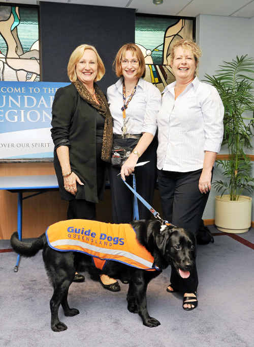 Dianne Schneider from Look Good Feel Better, Hilary Jones Rowan, Tompson and Nerida Hepple from Guide Dogs Queensland.