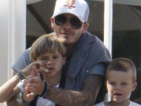 David Beckham and his children.