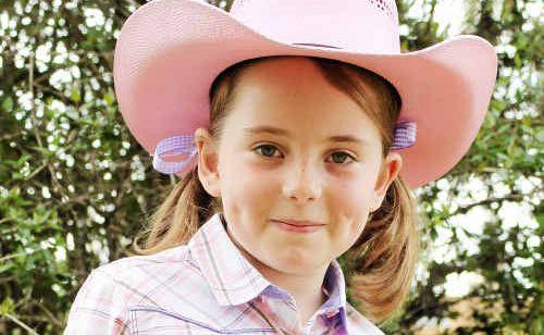 Warwick Rodeo 2010 Tiny Tot entrant Anna Hegerty.