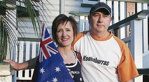 Police Sergeant Tony McCarthy and his wife Geraldine will watch their son-in-law Liam de Young play for Australia against India in the Commonwealth Games gold medal game
