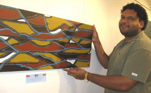 Local Aboriginal artist Jarrod Beezley provides an artistic insight into beneath our local waterways and rivers with the second series of his Salt Water Life exhibition currently on display in Boyne Island.