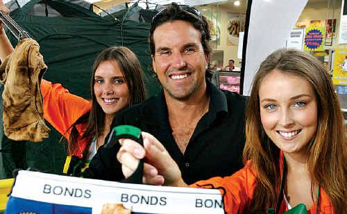 Pat Rafter with Kate Burr and Claudia Kirkman at Noosa Civic.