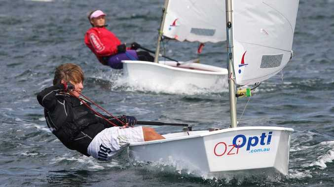 Klaus Lorenz in action at the Pittwater Spring Cup regatta in Sydney.