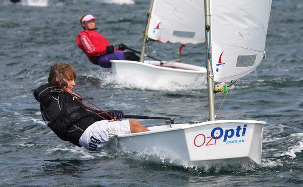 Klaus Lorenz in action at the Pittwater Spring Cup regatta in Sydney.