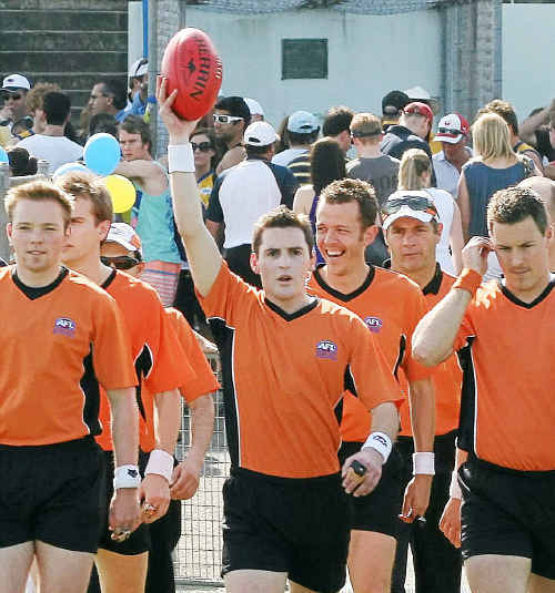 Lifetime chance: Umpire Matthew Gestier is being fast-tracked into the AFL big time.