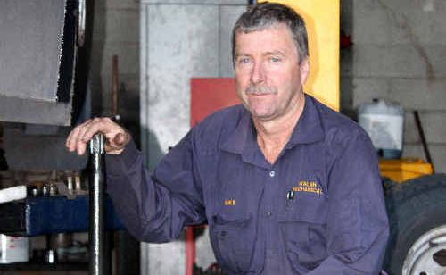 Mike Walsh from Walsh Mechanical in Moranbah is concerned about the impact the fly-in, fly-out workforce would have on the town.