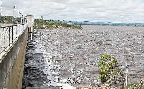 Leah Thomson of Warwick snapped these incredible photos of waves stirred up by the wind crashing against the bank and the dam wall at Leslie Dam on Saturday morning.