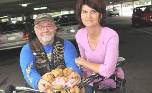 Dave Murray of HOG Motorbike Club and Kim Warner of Bumz on Bikes breast cancer fundraiser are organising a ride to raise awareness and funds for breast cancer research.