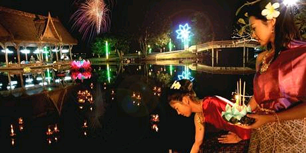 Loi Krathong is one of Thailand's most atmospheric traditional festivals, where decorated banana leaf rafts are set afloat on any body of water by revellers.