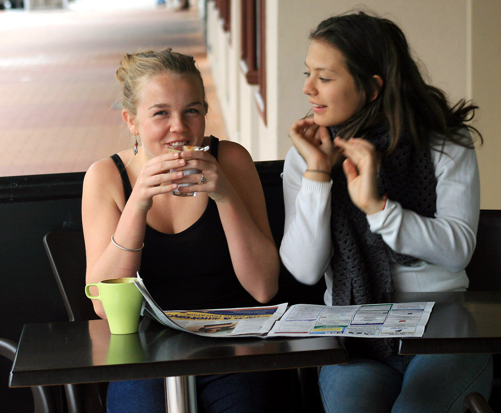 Year 10 Byron High students Ceara Kilgariff and Lealah Shostak are looking for career inspiration, ideas and advice.