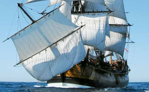 The HMV Endeavour replica ship will visit Gladstone on its circumnavigation of Australia next year.