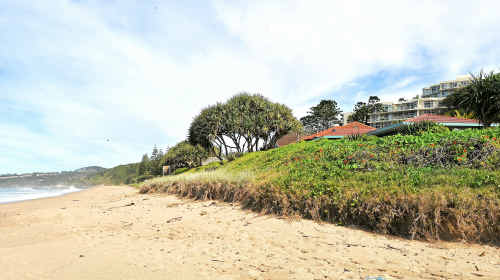 Beach erosion laws have been passed in State Parliament addressing problems experienced in areas such as Campbell's Beach.