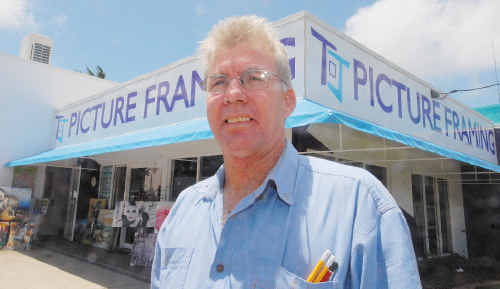 James Marrs, of TJ Picture Framing, is looking forward to the end of roadworks associated with the Joint Levee Road and Forgan Bridge duplication.