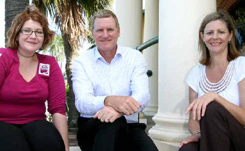 Grapevine Group chairperson Debbie Guzowski, Scott Alman of Altman Partners, and Sandi Winner of Mackay Regional Mental Health Network.
