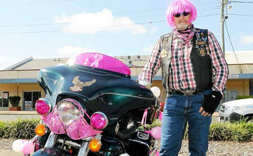 Owen Polzin is dressed to impress as he prepares to ride in the 2010 Bumz on Bikes which helps raise money for breast cancer research.