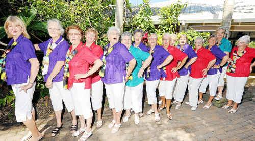 Rhythms of the Reef women's barbershop chorus preformed at Art on Grass at Bundaberg's Botanic Gardens.