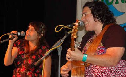 Totally charming: Kallena Briggs and Nardi Simpson from the Stiff Gins delighted audiences with their beautiful harmonies.