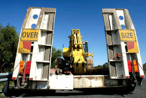 Over size truck: An over height truck tried to enter the Tugun Bypass tunnel on Friday but was stopped on the highway.