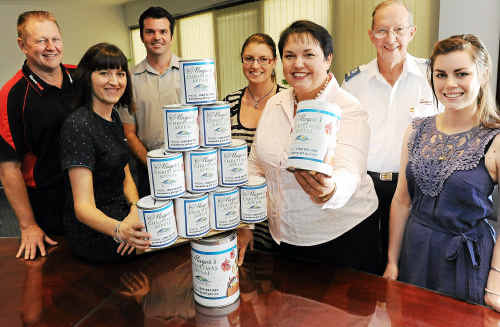 NewsMail general manager Wayne Tomkins, Wide Bay Australia's Marissa Rehbein, Chamber of Commerce representative Dion Taylor, NewsMail editor Christina Ongley, Mayor Lorraine Pyefinch, Salvation Army chaplain Don Cook and Southern Cross Ten's Amanda York are all looking forward to this year's Christmas Appeal.