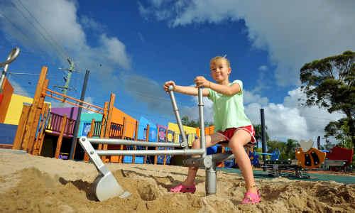 Award winner: Coffs Harbour's children's playground at Brelsford Park.