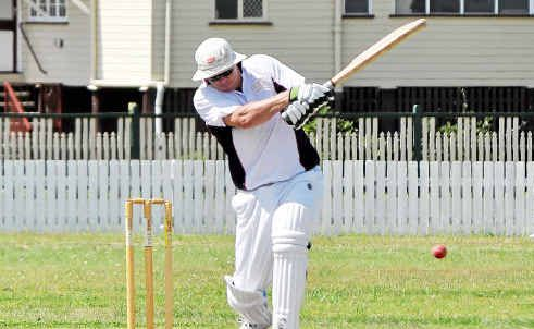 Tony Munro hits out in a man of the match performance for Sovereign Animals at Slade Park on Sunday.